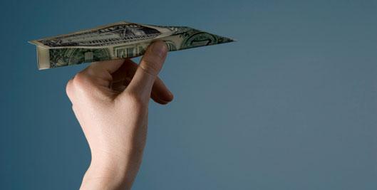 dollar bill for advertising budget
